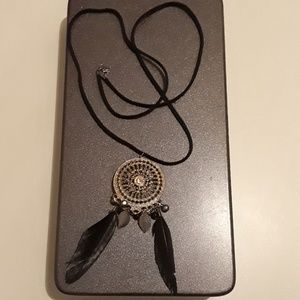 F21 Dreamcatcher Medallion Necklace!!